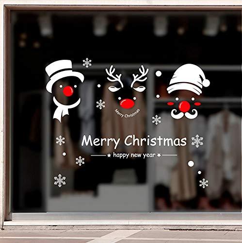 Cczxfcc, wandsticker, kerstmis, sneeuwpop, verwijderbaar, voor thuis, vinyl, raam, kerst, sticker, wooncultuur