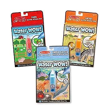 Melissa & Doug Water Wow! - Water Reveal Pad Bundle - Farm Safari & Under The Sea