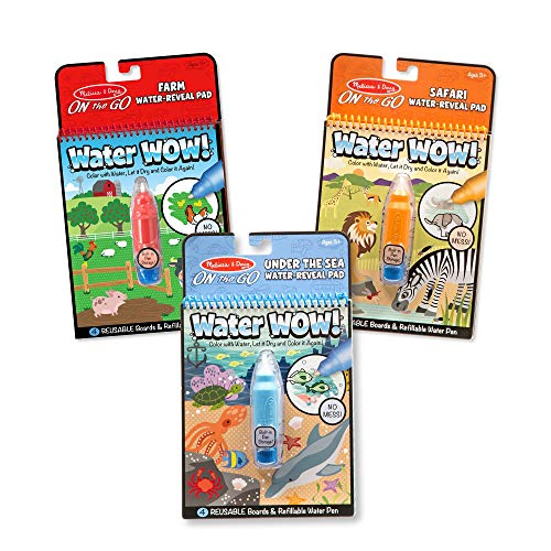 Melissa & Doug Water Wow Bundle: Farm, Safari & Under The Sea