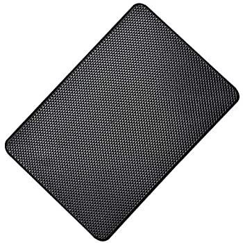 Hulless 10.6 x 5.9 Inch Car Dashboard Anti Slide Mats Adhesive Pads for Cell Phone Electronic Devices Keys Sunglasses etc 2 Pcs