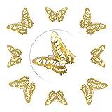 AIBAOBAO Adesivo da Parete a Forma di Farfalla 12Pz, 3D 3 Dimensioni Farfalla Rimovibile D...