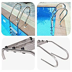 bouncevi wendaby Escalera peldaños para piscina de acero inoxidable Reemplazo antideslizante Escalera peldaños pretty