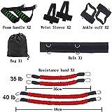 KJRJDD Bandas Deportes Resistencia de la Aptitud fijaron for Pierna y el Brazo Ejercicios de Boxeo Muay Thai Gimnasio en casa Que despide Fuerza Equipo de Entrenamiento (Color : Red)