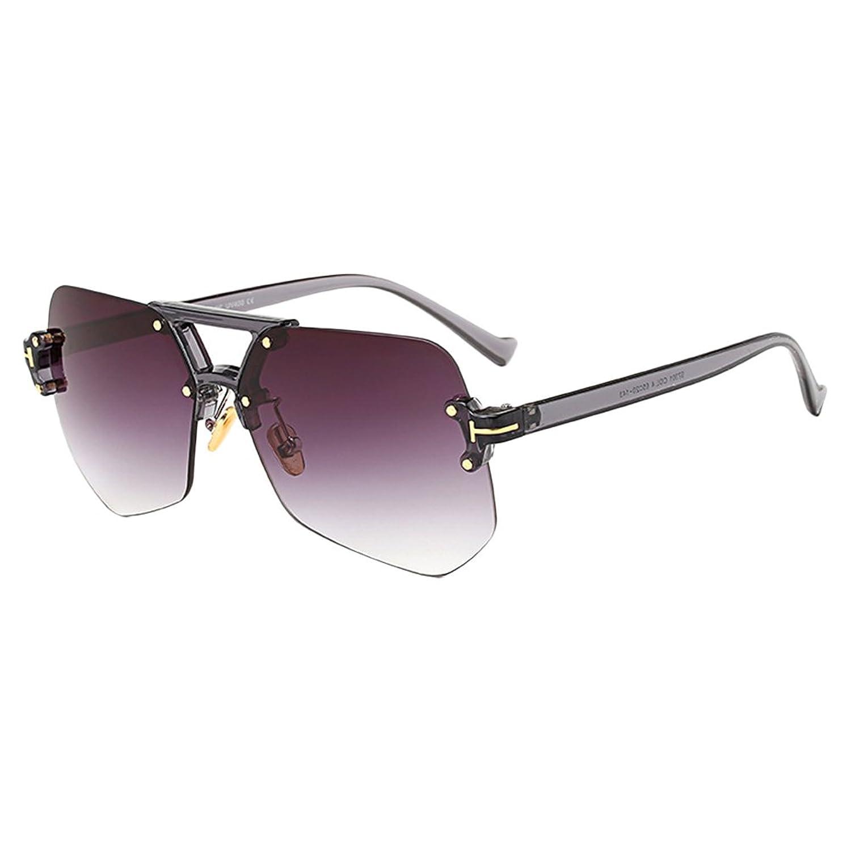 Zhhlaixing ファッション Unisex Sunglasses 品質 サングラス 不規則レンズ フレームなし クールスタイル ユニセックス マルチカラー サングラス