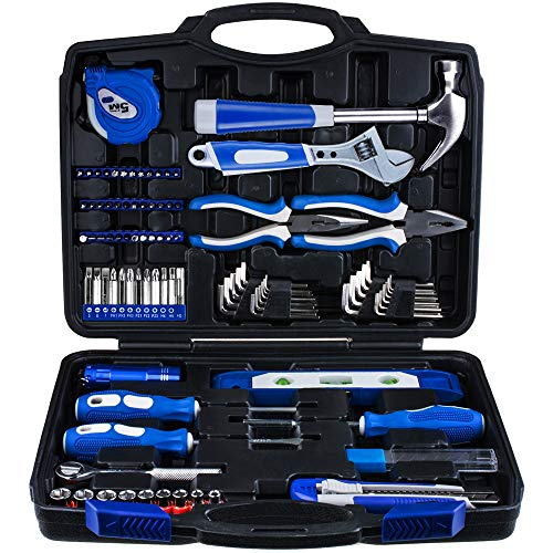Vastar 102 Piece Home Repair Tool Kit General Household Tool Kit for Home Maintenance with Plastic Toolbox Storage Case