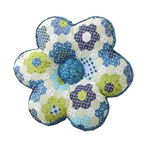 Cosyhome Coton Tissus Assise et dos Coussin Motif floral Couvre-lit Taie d'oreiller 38,1 x 38,1 cm, 2 couleurs en option