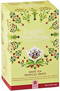 DEU English Tea Shop Weißer Tee mit tropischen Früchten - 1 x 20 Teebeutel 40 Gramm