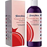 Sensual Massage Oil for Men and Women with Jojoba and Coconut Oil - Relaxing Massage Oil for Couples with Sweet Almond Oil for Skin Relaxing Anti-Aging Aromatherapy Dry Skin Moisturizer with Vitamin E