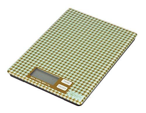 パール金属 ガラス トップ デジタル キッチン スケール 2kg 用 千鳥格子 ラフィネ D-6227