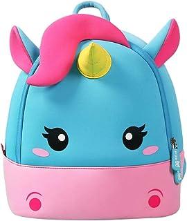 NOHOO Toddler Kids Backpack Child Cute Zoo Sidekick Bag Preschool Cartoon Unicorn Backpack for 4-8 Years