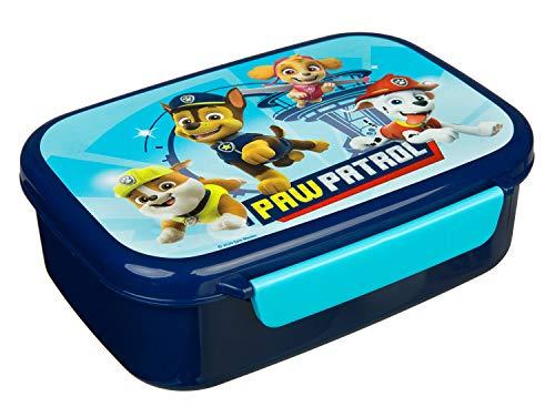 Scooli PPAT9903 Brotzeitdose aus Kunststoff mit Zwei Clips, Paw Patrol, leicht zu öffnen und zu schließen, BPA und Phthalat frei, ca. 18 x 13,5 x 6 cm