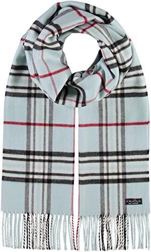 FRAAS Schal aus reinem Cashmink für Damen & Herren - Made in Germany - XXL-Schal - The Plaid - weicher als Kaschmir - Perfekt für den Winter Hellblau