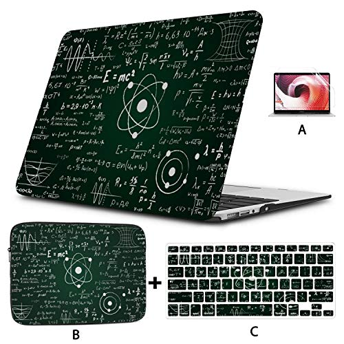 Mac Cover Blackboard Mathematical Graphics And Formulas Protective Macbook Pro Case Hard Shell Mac Air 11'/13' Pro 13'/15'/16' With Notebook Sleeve Bag For Macbook 2008-2020 Versio