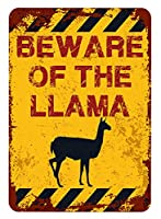アメリカ雑貨 アメリカン雑貨 英語版 動物注意 ブリキ看板 警告コーギー 金属板 注意サイン情報 サイン金属 安全サイン 警告サイン 表示パネル (LLAMA)