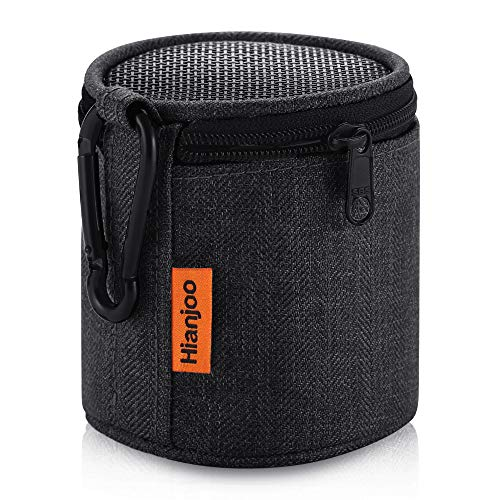 Hianjoo Tasche Kompatibel für Anker SoundCore Mini, Tragbare Drahtlose Bluetooth Lautsprecher Hülle mit Karabiner, Schutzhülle Kompatibel mit Betron KBS08, Dunkelschwarz