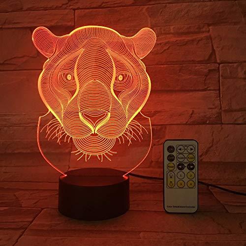 Control Remoto o Control táctil Lion House luz Decorativa Regalo de Juguete para niños luz de Noche Color Flash Cambio luz Nocturna