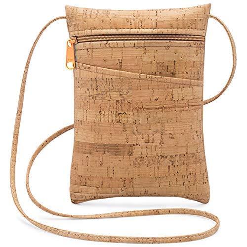 Mini Cork Cross Body Columbus Mall Las Vegas Mall Bag Natural with Zipper
