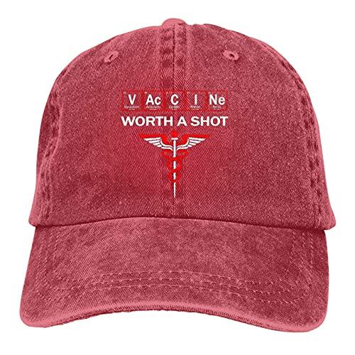 Gymini Vaccines are Worth a Shot Hat Dad Hat Gorra de béisbol bordada, unisex, ajustable