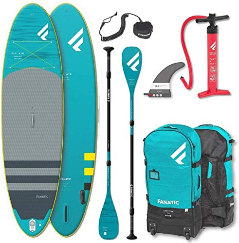 Fanatic Fly Air 10.8 Premium Set Paddle Board Surfboard Carbon 35 Paddel 325cm