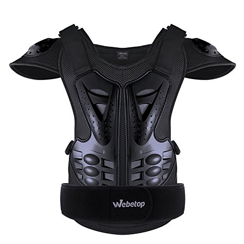 Webetop Adults Dirt Bike Body Chest Spine Protector Armor Vest for Skiing L