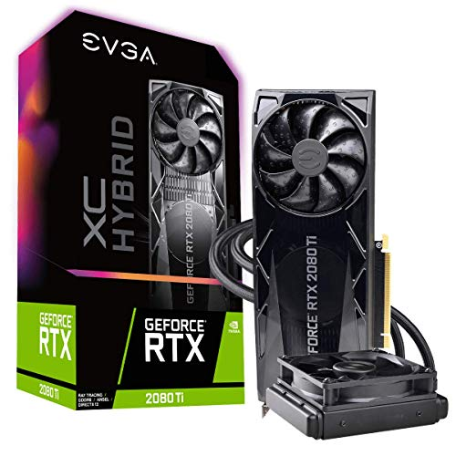 EVGA GeForce RTX 2080 Ti XC Hybrid Gaming, 11GB GDDR6, Hybrid, RGB LED Logo, Blackplate de Metal, Placa de Vídeo 11G-P4-2384-KR