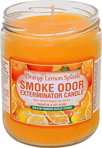 Smoke Odor Exterminator 13oz Jar Candle, Orange Lemon, Pack of 2
