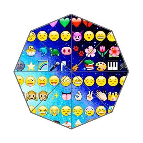 Enne paraguas Emojis paraguas plegable paraguas lluvia paraguas de viaje compacto 8costillas UV Protección