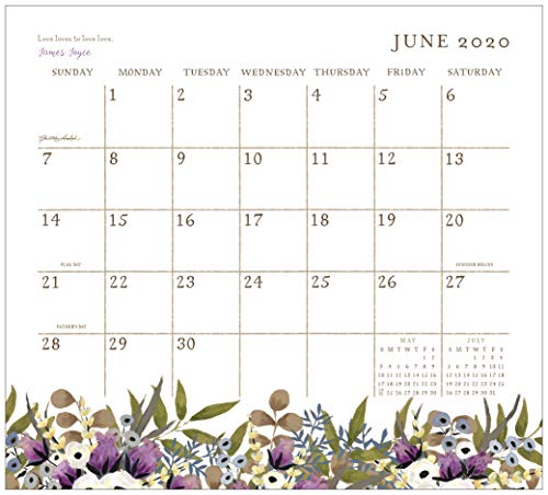 Legacy Publishing Group 2020 Magnetic Calendar Pad, 9.37 x 8.37-Inches, Live Simply