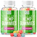 Hemp Gummies Extra Strength Sleep Aid for Pain and Inflammation Chewable Vitamin Supplements for Migraine Stress Relief Aid Focus Mood Inflammation Gummy for Adults (25000mg | 2 Pack)