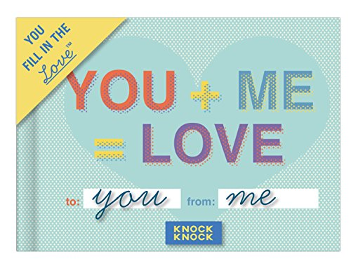 Knock Knock You + Me = Love Fill in the Love Book Fill-in-the-Blank Gift Journal, 4.5 x 3.25-inches Photo #5