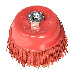 top 10 abrasive cup brushes Al's Liner ALS-6CB 6 inch polishing brush with nylon bristles, grit 180