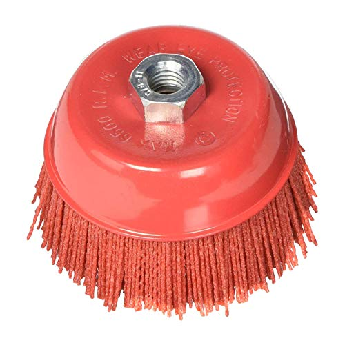 Al's Liner Abrasive 180 Grit Nylon Bristle Cup Brush - 4 Inch - Safe for Use on Metal, Wood, Aluminum and Plastic Surfaces (ALS-4CB)