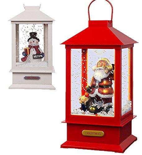 The Magic Toy Shop Weihnachts-Laterne mit 8 Liedern, Weihnachtsmann und Schneemann