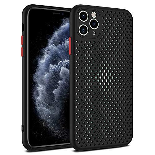 Coque pour iPhone 11 Coque Silicone Liquide Anti-Choc Ultra Mince Solide AIR Cushion Protection Coin Housse pour iPhone 11 (noir)