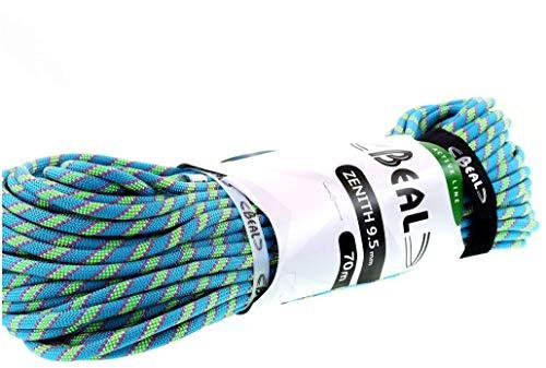Beal Zenith Corde d'escalade Mixte Adulte, Bleu, 70 m