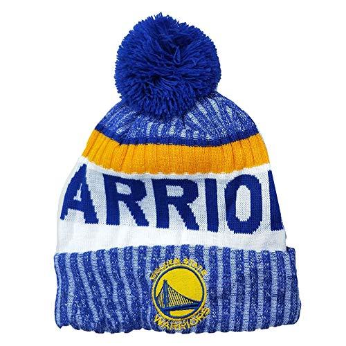 Herren Damen Warm Gestrickte Hüte Warriors Basketballkappen Winter Warm Gestricktemütze Outdoor Ski Pompom Cap Beanies Hat