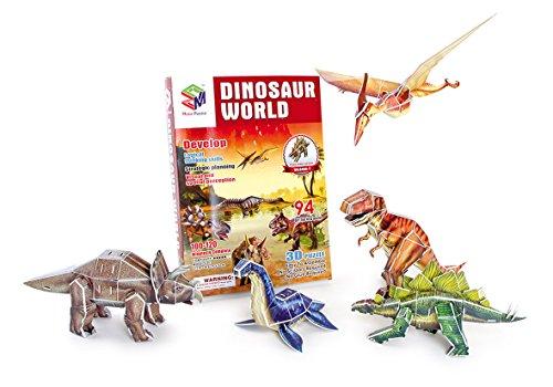 Legler Small Foot Company (Smb5V) - 9048 - Puzzle 3D - Monde des Dinosaures