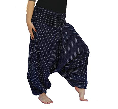 Induswereld Kleurrijke harembroek Aladin Hippie broek met patroon katoen