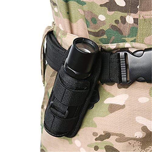 Breale 360 Grad drehbare Taschenlampe Clip Beutel Holster taktische Molle LED Fackel Halter Gürtel Tragetasche für Outdoor-Jagd Camping Zubehör