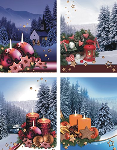 Pochettes cadeaux medium (moyen) – K & B Distribution de Noël sacs sac de Noël sacs cadeaux noël axd7337 (48 pièces)