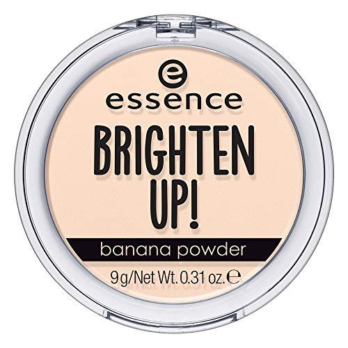 essence BRIGHTEN UP! banana powder, Puder, Nr. 10 bababanana, gelb, für Mischhaut, mattierend, vegan, Nanopartikel frei, ohne Parfüm, 3er Pack (3 x 9g)
