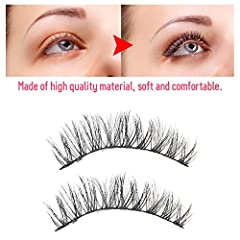 LIGHTWEIGHT AND COMFORTABLE: our eyelashes are made from high quality synthetic fibers for incredible comfort and lightness. Making our eyes more attractive is our number one priority, and eyelashes are perfectly combined with your own lashes for max...