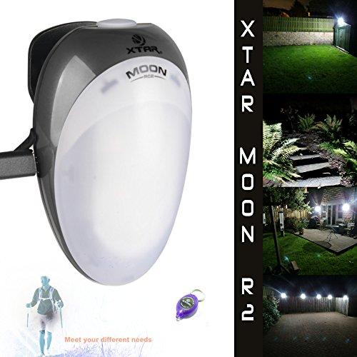 Xtar Moon RC2 oplaadbare led-zaklamp/lantaarn/lamp, waterdicht tot IPX8 niveau + Xtar Direct UK sleutelhanger led kan voor alles en iedereen worden gebruikt. huisverlichting, tuinverlichting, hardlopen, fietsen, honden, kamperen.