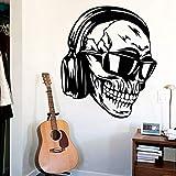 guijiumai Frais Crâne Stickers Muraux Moderne De La Mode Mur Autocollant Décoration...