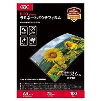 アコ・ブランズ ラミネートパウチフィルム A4 75ミクロン 100枚 YV075A4Z ×10 セット