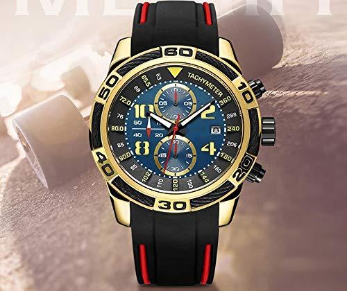 Voigoo Chronograph Sport Herrenuhr kreative Original-Silikon-Quarz-Armbanduhr-Stunden-Datum Male Uhr Relogio Masculino