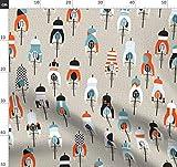 Frankreich, Fahrrad Stoffe - Individuell Bedruckt von