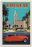 VVBGL Leinwand Bilder Vintage Reise Poster Uruguay