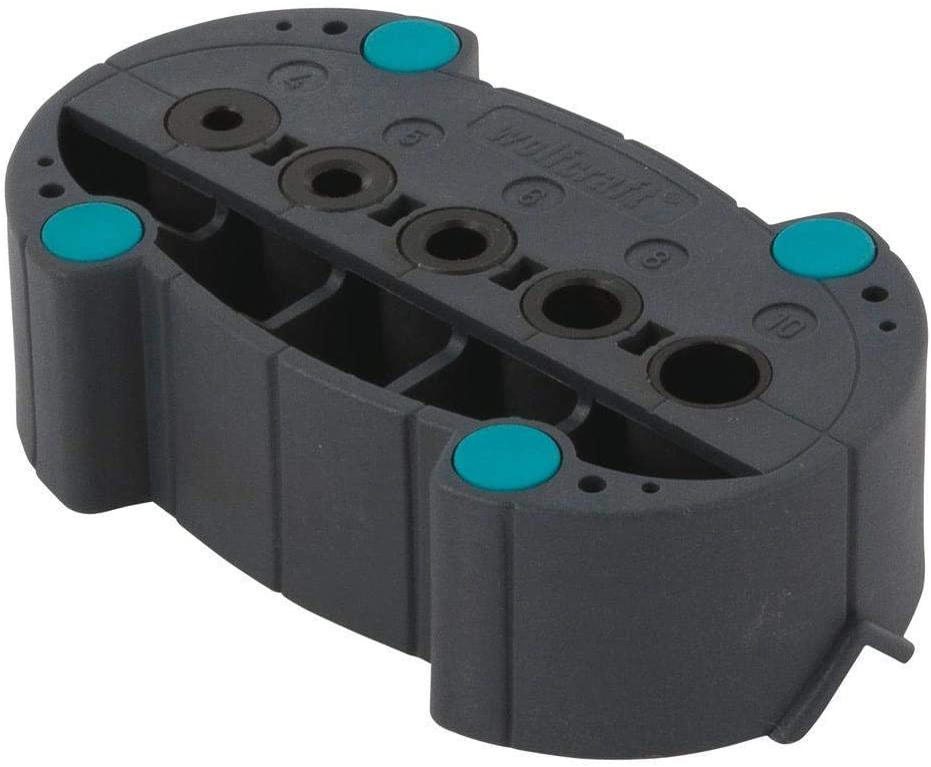Wolfcraft 4685000 4685000-1accumobil gu/ía para taladrar m/óvil 2911000-4 marcadores para espigar /Ø 6 mm