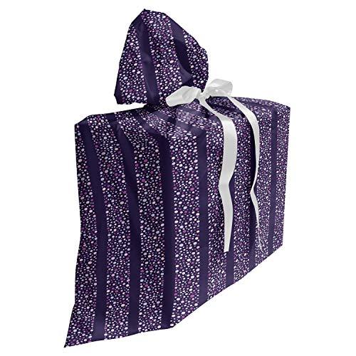 ABAKUHAUS asbtract Cadeautas voor Baby Shower Feestje, Bubbels vormen brede banden, Herbruikbare Stoffen Tas met 3 Linten, 70 cm x 80 cm, Quartz Mauve